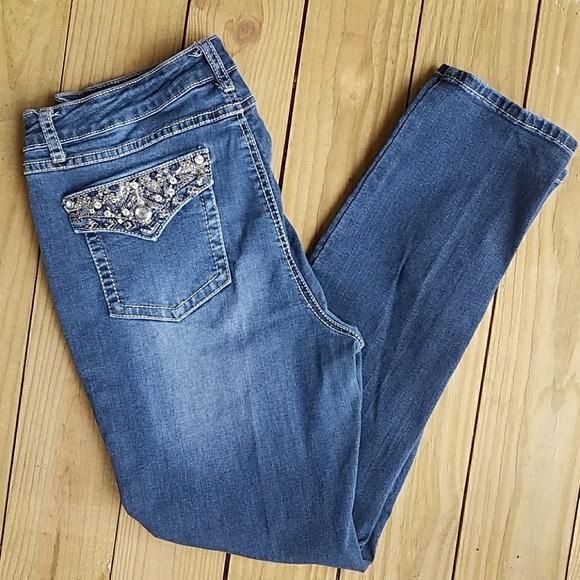 e6f19db2d69 Earl Jeans Denim - Earl Jeans rhinestone embellished skinny jeans